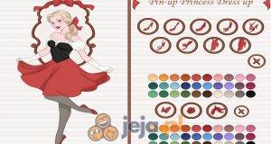 Księżniczka w stylu pin-up