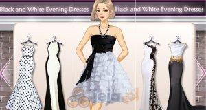 Czarno-białe suknie wieczorowe