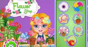 Baby Barbie w kwiaciarni