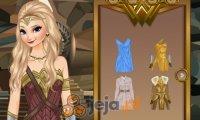 Elsa jako Wonder Woman