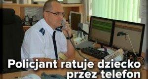 Ponownie Wrocław - policjant uratował dziecko
