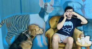Cyber Marian i świnio tygrys pies mutant