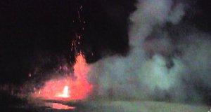 Fajerwerki eksplodują na plaży