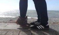 Z ukochaną nad morzem