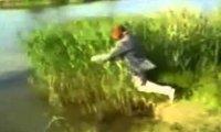 Miota nim w jeziorze