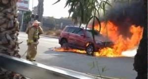 Pojazdy w ogniu