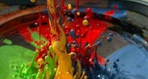 Farba na głośniku - slow motion 2500fps