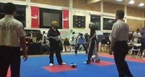 Niecodzienny finał turnieju sztuk walki