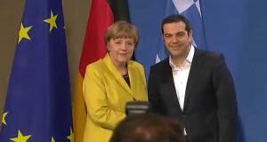 Przemówienie Merkel i Tsipras'a