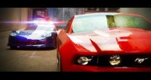 Brawurowy pościg samochodów RC