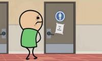 Cyanide & Happiness: nieczynna toaleta