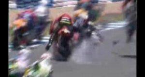 Karambol podczas wyścigu