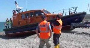 Nietypowy manewr łodzi ratowniczej