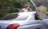 Kozaki w samochodzie