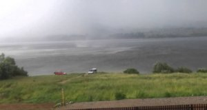 Trąba powietrzna na Jeziorze Czorsztyńskim