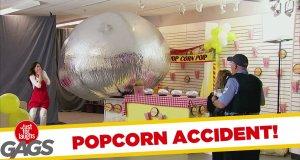 Ukryta kamera - pilnowanie popcornu