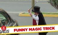 Ukryta kamera - mały magik zmniejsza samochód