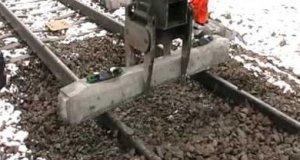 Szybka podmianka podkładów kolejowych