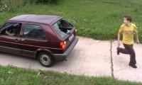 Parkour i samochód