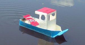 Łódka napędzana świeczką