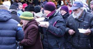 Duch świąt na wigilii w Węgorzewie