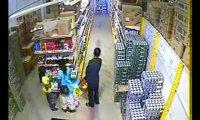Kradzież piwa w markecie