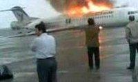 Płonący samolot