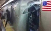 Deszcz w amerykańskim metrze