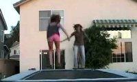 Wytrzymała trampolina