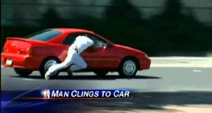 Złodziej jadącego samochodu
