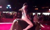 Ujeżdżanie byka w krótkiej sukience