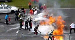 Straszny wypadek Lamborghini Gallardo na torze wyścigowym