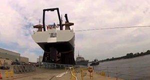 Ekstremalne wodowanie statku