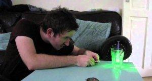 Mikroskop laserowy domowej roboty