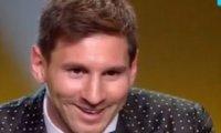 Reakcja Messiego po zdobyciu Złotej Piłki