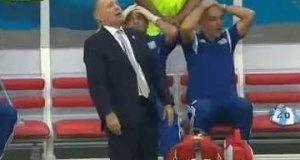 Reakcja trenera na poprzeczkę