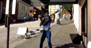 Utalentowany uliczny muzykant