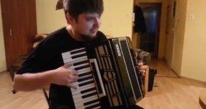 Gra na akordeonie pod USB