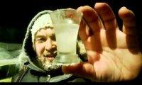 Sylwestrowa, rosyjska, zamarznięta wódka -40°C