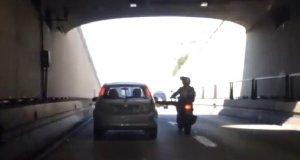 Szybka sprawiedliwość dla agresywnego motocyklisty