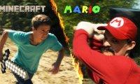 Minecraft kontra Super Mario Bros