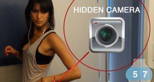 Spacer z kamerą ukrytą w legginsach