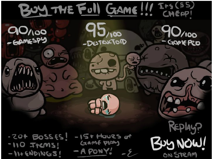 The binding of isaac demo is update