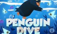 Nurkujący pingwin