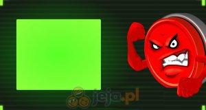 Wściekły czerwony przycisk