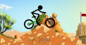 Patyczak na rowerze