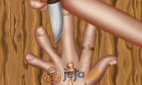 Nożem między palcami