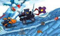 Auto zjada auto Zimowa przygoda