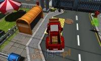 Ciężarówka i miejskie parkowanie