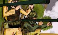 Żołnierze z rakietnicami
